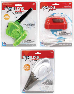 World Smallest (Cordless) Bundle of 3 (Blower, Vacuum & Mixer)
