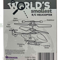 Worlds Smallest R/C helicopter back (by Westminster)
