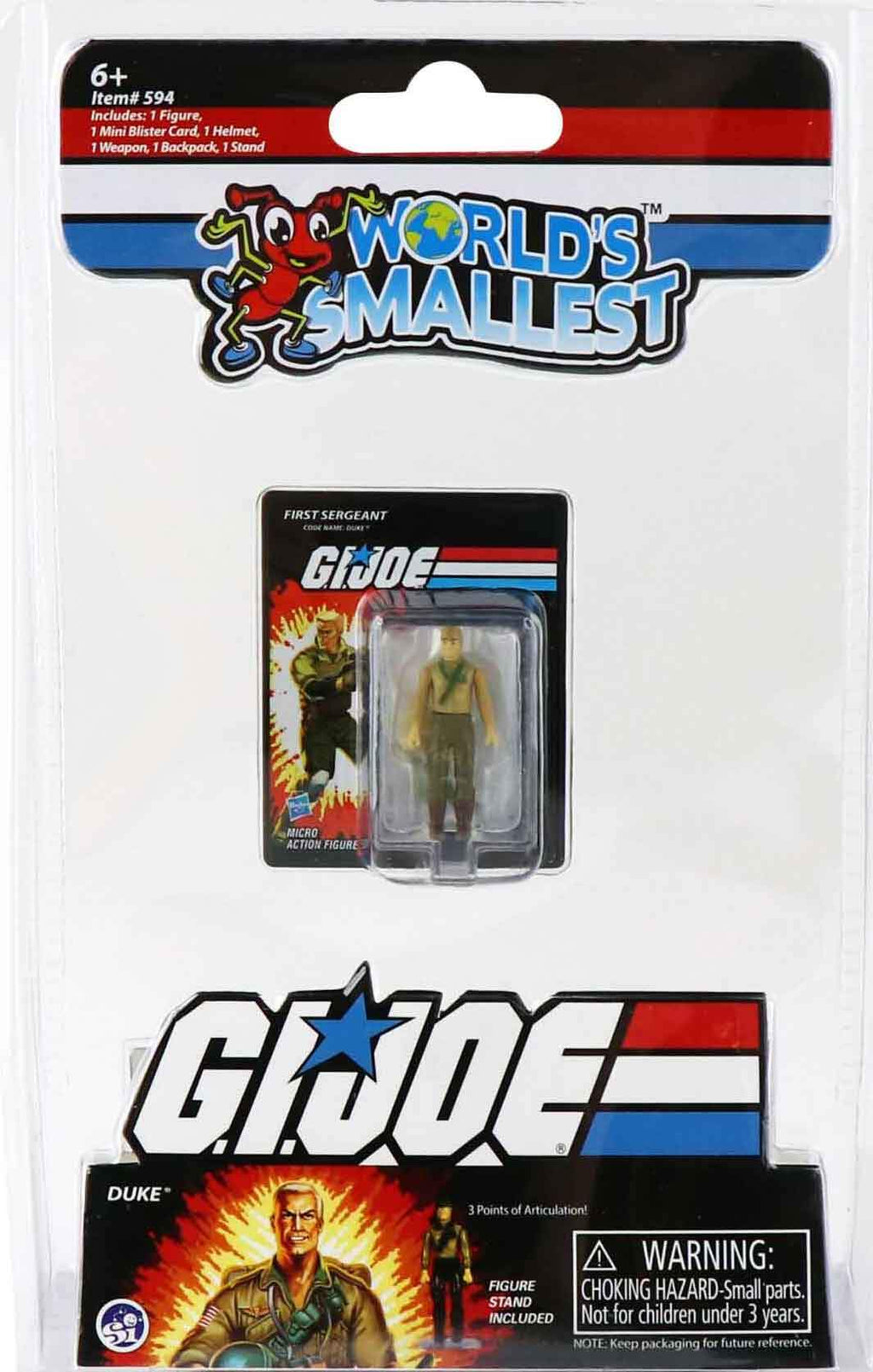 World's Smallest GI Joe vs Cobra - Duke in package