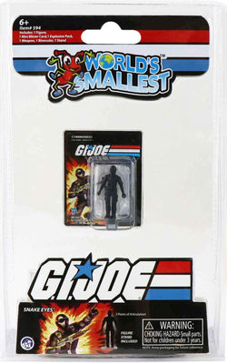 World's Smallest GI Joe vs Cobra - Snake Eyes in package
