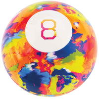 World's Smallest Tie Dye Magic 8 Ball open