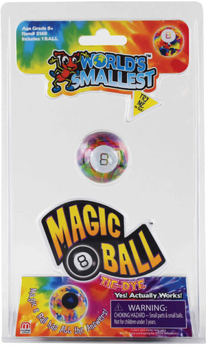 World's Smallest Tie Dye Magic 8 Ball