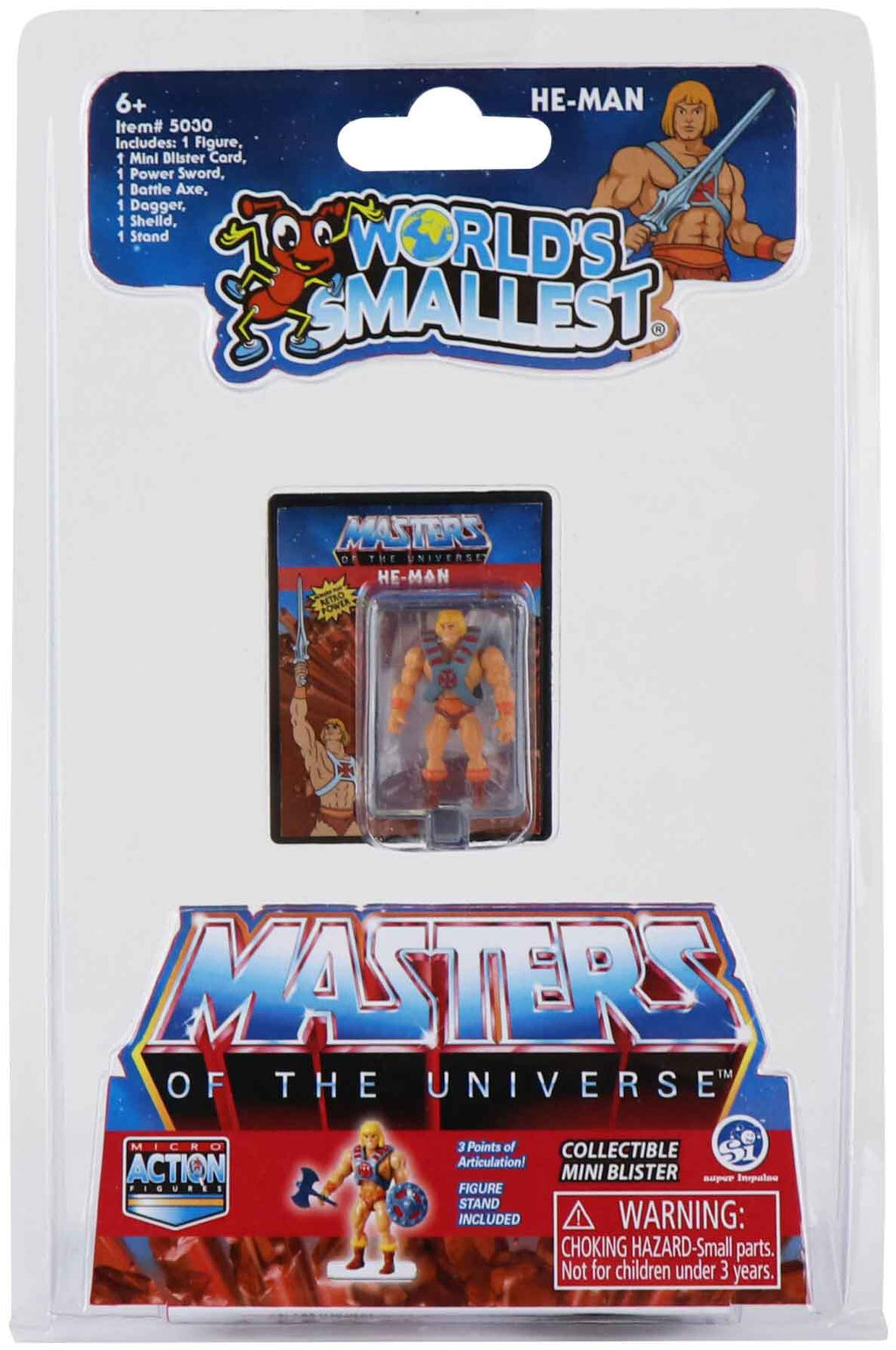 World's Smallest Masters of the Universe Micro Action Figures (He-Man)