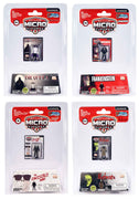 World's Smallest Mego Horror Micro Action Figures – (Bundle of 4)