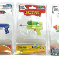 World's Smallest Super Soaker - Set of 3 - SS50, Barrage and Scatter Blast back of package