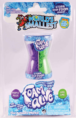 World's Smallest toys Foam Alive  purple & green