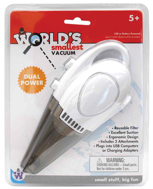 Worlds Smallest Vacuum -by Westminster (Cordless) Dual Powered - Battery or USB