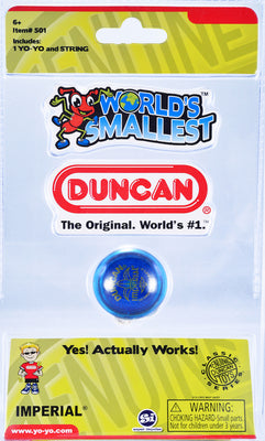 World's Smallest - Duncan Imperial Yo-Yo (Choose 1 Blue, Red or Green)