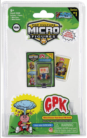 World's Smallest (GPK) Garbage Pail Kids (Tee-Vee Stevie) in package