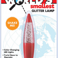Westminster Worlds Smallest Glitter Lamp red
