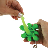 World's Coolest Nickelodeon Slime keychain stretched