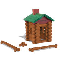 World's Smallest Lincoln Logs in action