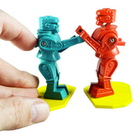 World's Smallest Rock'em Sock'em Robots in hand