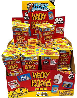 World's Smallest Wacky Packages Minis Series 1 Mystery Pack full case
