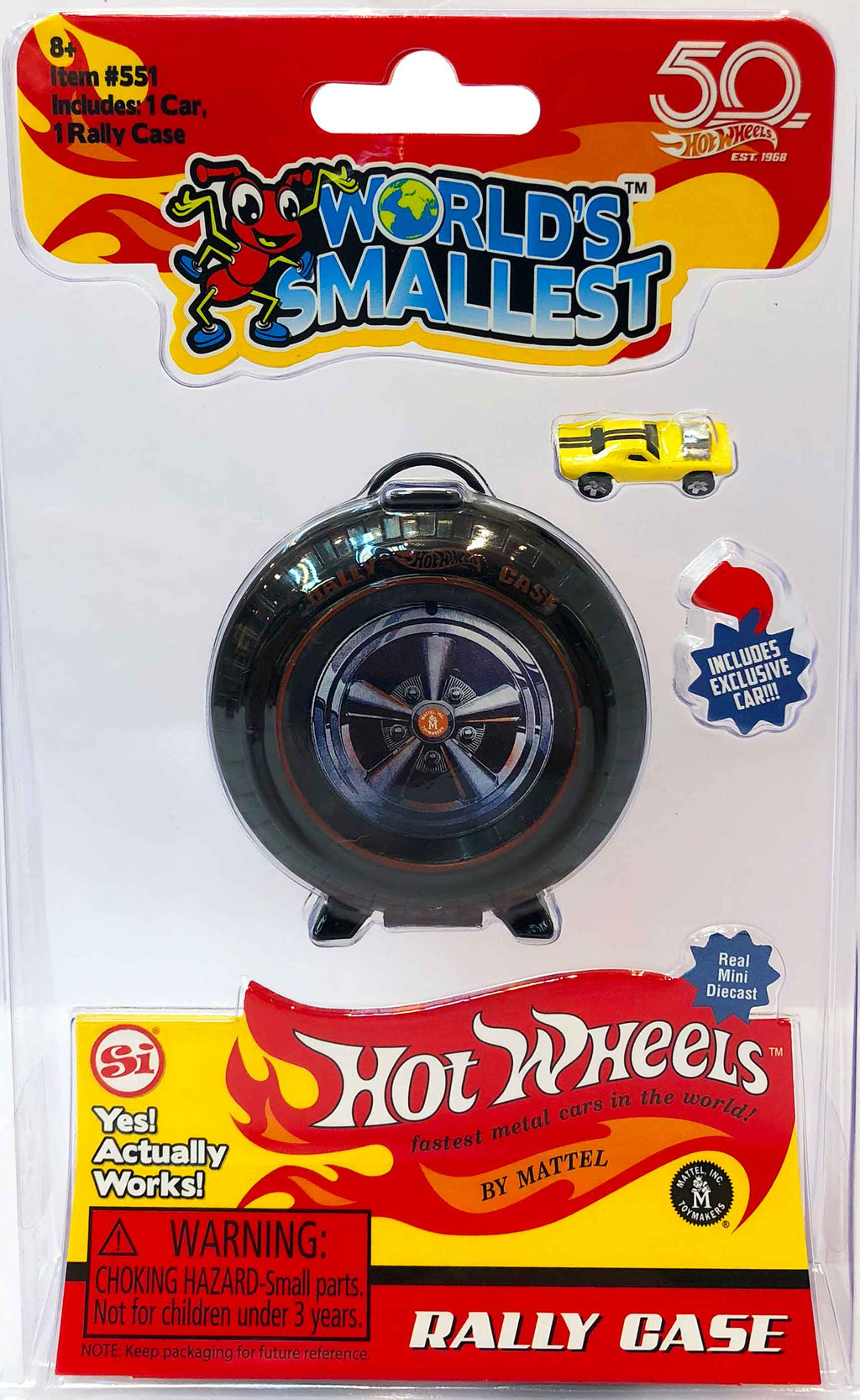 Worlds Smallest Hot Wheels Mini World Super Rally Case