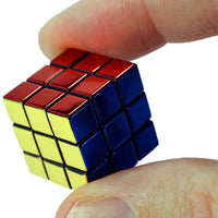 World's Smallest toys Rubiks 40th anniversary in hand