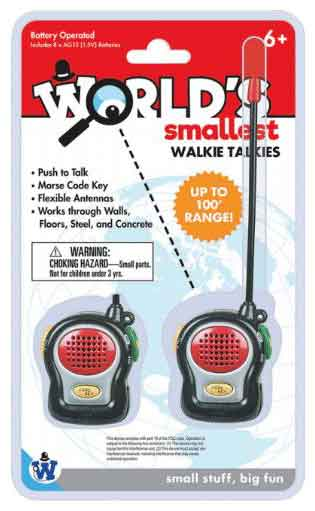 Worlds Smallest Walkie Talkies by Westminster