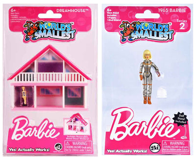 World's Smallest Barbie Dreamhouse - Black & White Dress plus 1965 Barbie