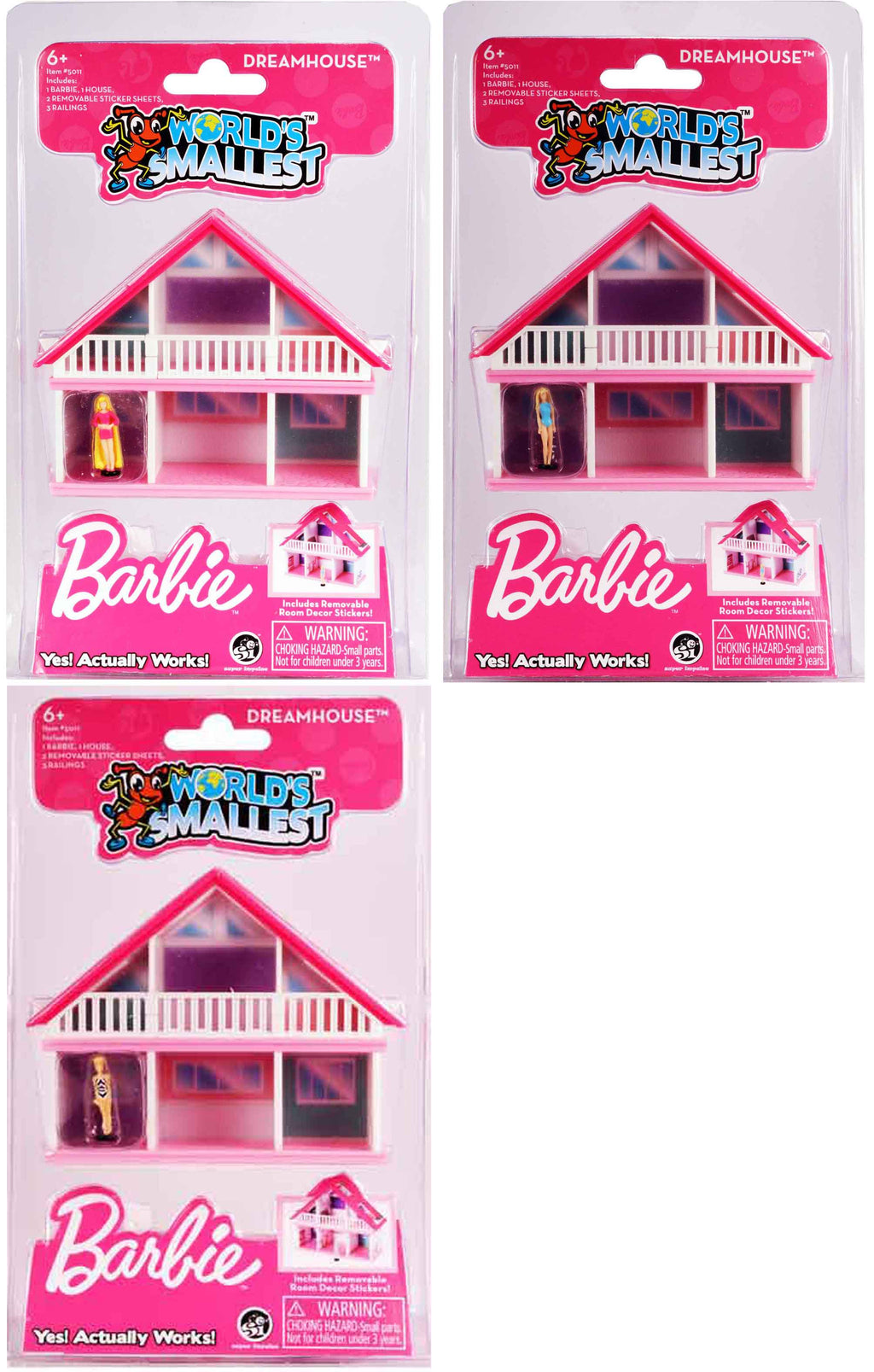 World S Smallest Barbie Dreamhouse Bundle Of All 3 Barbie