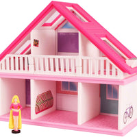 World's Smallest Barbie Dreamhouse  front- Pink Dress