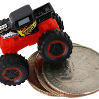 World's Smallest Hot Wheels Monster Trucks (Bone Shaker) on quarters