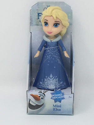 New version Disney Princess Mini Doll - Elsa Blue Snow Dress