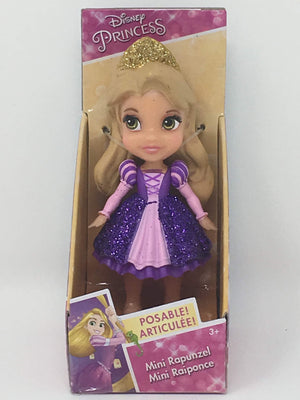 New version Disney Princess Mini Doll - Rapunzel Purple Dress