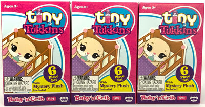 Tiny Tukkins Baby 'n' Crib Mystery Plush Pack - Set of Three