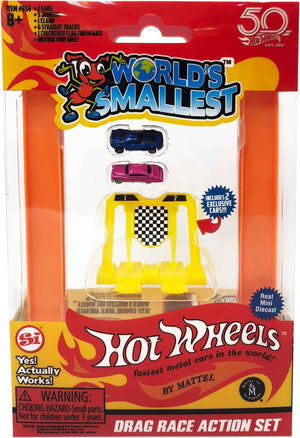 Worlds Smallest Hot Wheels Mini World Drag Race Set