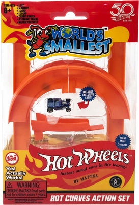 Worlds Smallest Hot Wheels Mini World Curve & Jump Set