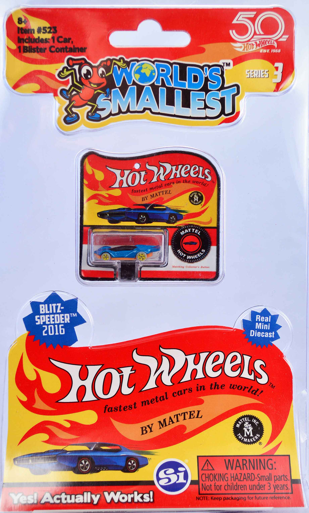 World's Smallest Hot Wheels - Series 3 - Blitzspeeder 2016