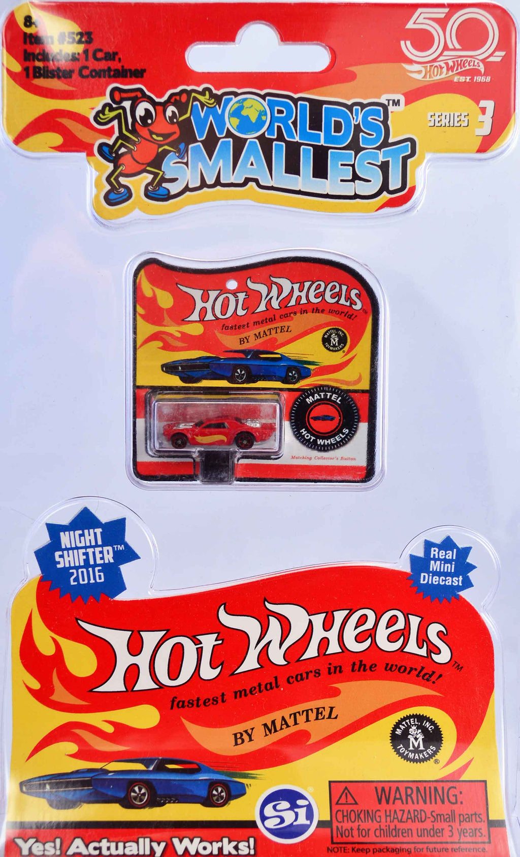World's Smallest Hot Wheels - Series 3 - Night Shifter 2016