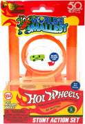 Worlds Smallest Hot Wheels Mini World Stunt Action Set