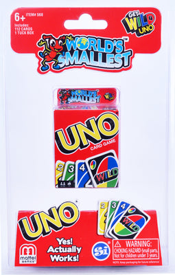 World's Smallest - Uno card game