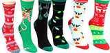 Eros Socks Women's Novelty Crew Socks with G Bundle Charmie Hair Ties - GBundle