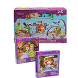 Disney Junior Sophia The First Floor Foam Puzzle Bundled With Assorted Style 24 piece Jigsaw Puzzle - GBundle