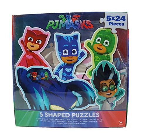 Set of 5~24 Piece PJ Masks Shaped Puzzles - GBundle