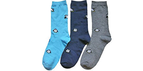 Everbright Womens Penguine Socks Novelty Crew Socks with G Bundle Charmie Hair Tie - GBundle