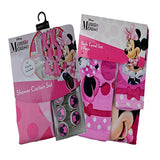 Disney Little Mermaid, Mickey Mouse, Minnie Mouse Shower Curtain, Bath Towel, Shower Curtain Hooks Sets - GBundle