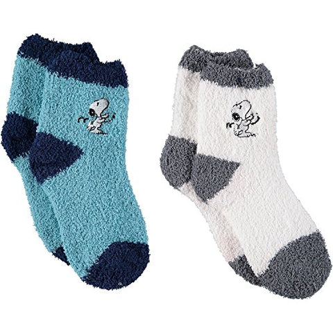 Peanuts Snoopy Fuzzy Socks - 2 Pack - GBundle