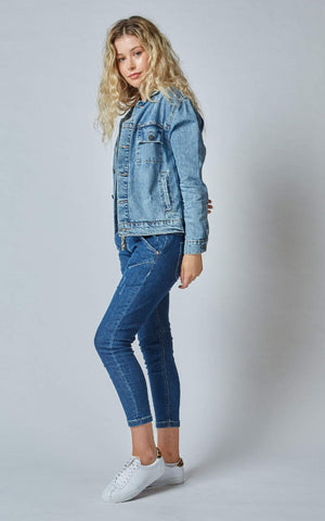 DRI-COPER DAZZLER DENIM JACKET - BUR BLUE - DD3073