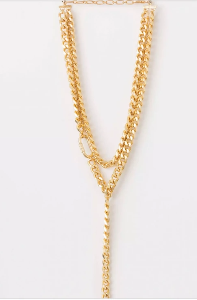 STELLA & GEMMA NECKLACE CHUNKY GOLD CHAINS - SGNL9286
