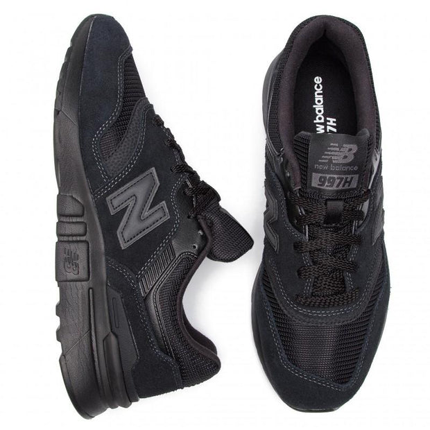 NEW BALANCE MEN'S 997H TRIPLE BLACK SNEAKERS