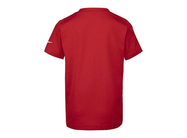 NIKE JUNIOR JUST DO IT SWOOSH RED TEE