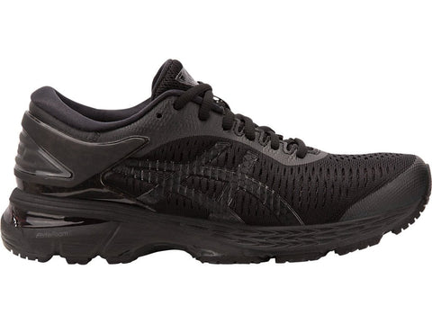 ASICS WOMEN'S GEL-KAYANO 25 TRIPLE BLACK RUNNING SHOES