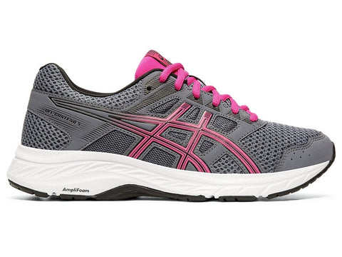 ASICS WOMEN'S GEL-CONTEND 5 GREY/PURPLE RUNNING SHOES