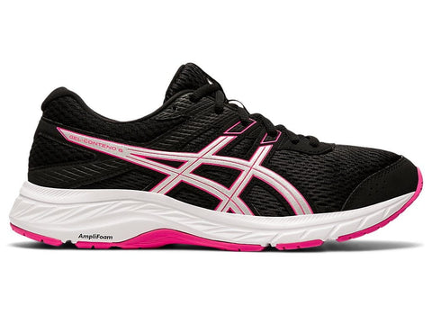 ASICS WOMEN'S GEL-CONTEND 6 (D WIDE) BLACK PINK RUNNING SHOES