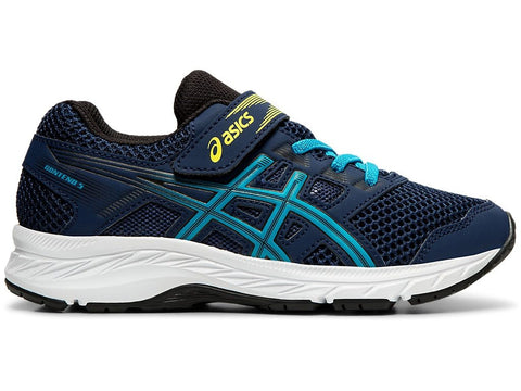 ASICS TODDLER'S CONTEND 5 BLUE RUNNING SHOES