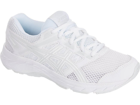 ASICS JUNIOR CONTEND 5 GS WHITE RUNNING SHOES