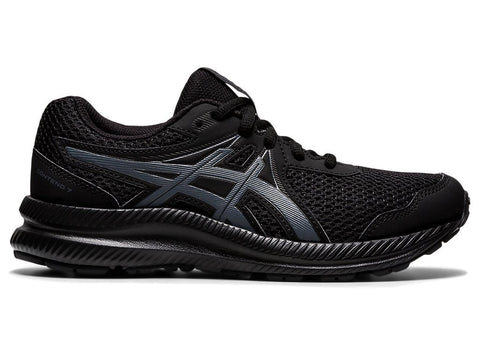 ASICS JUNIOR CONTEND 7 GS TRIPLE BLACK RUNNING SHOES